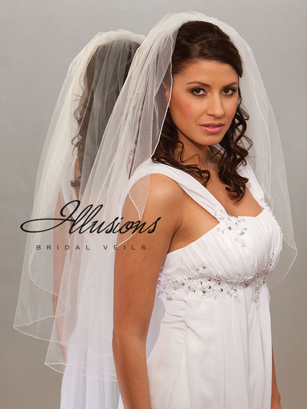 Illusions Bridal Corded Edge Veil 7-361-C