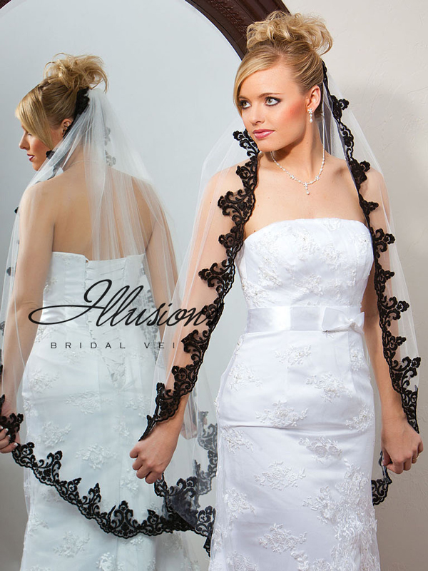 Illusions Bridal Lace Edge Veil 7-451-3L