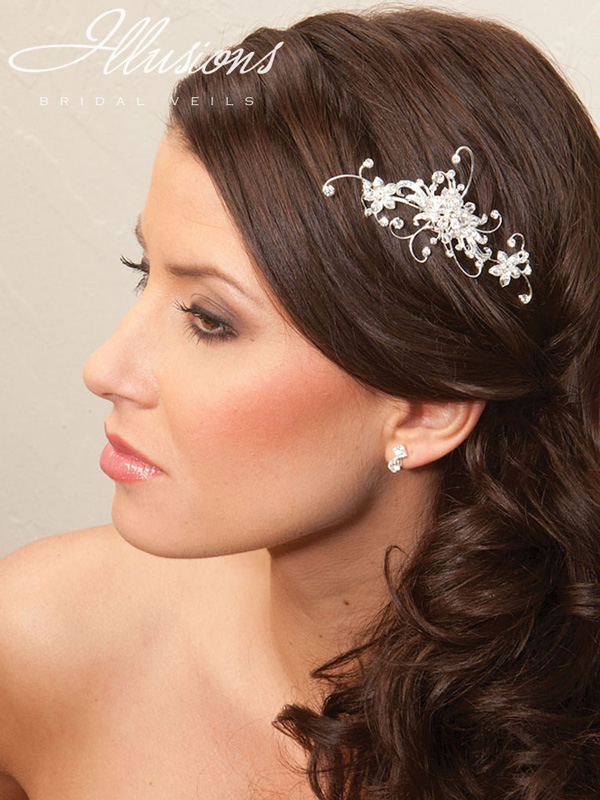 Illusions Bridal Hair Accessories 8204: Silver