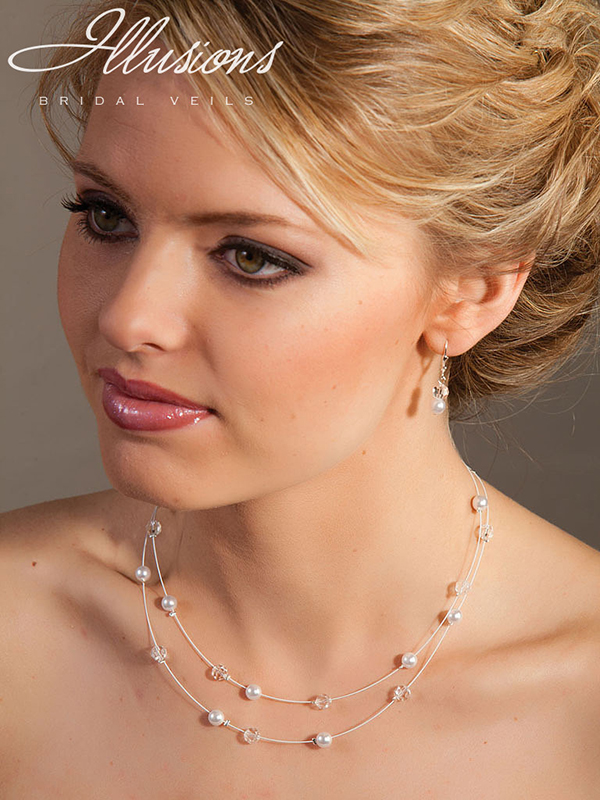 Illusions Bridal Bridal Jewelry 948: Pearl and Crystal