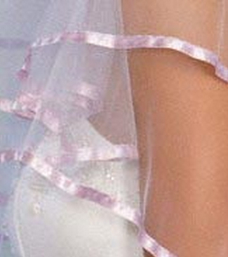 Illusions Bridal Colored Veils and Edges C1-252-3R-LV: Rhinestone Accent