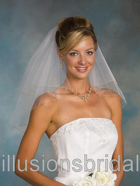 Illusions Bridal Colored Veils and Edges C5-202-C-AG: Rhinestone Accent