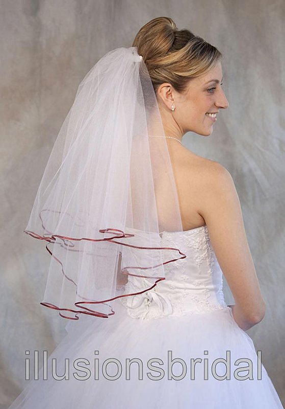 Illusions Bridal Colored Veils and Edges C7-252-1R-BT