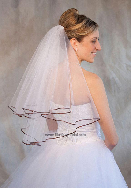 Illusions Bridal Colored Veils and Edges C7-252-1R-CH
