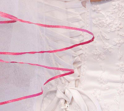 Illusions Bridal Colored Veils and Edges C7-252-1R-FS