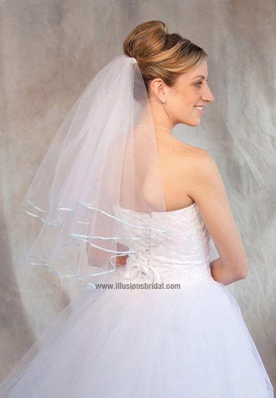 Illusions Bridal Colored Veils and Edges C7-252-1R-LB
