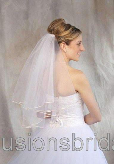 Illusions Bridal Colored Veils and Edges C7-252-1R-RP