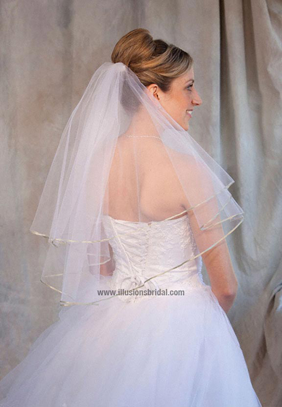 Illusions Bridal Colored Veils and Edges C7-252-1R-SG