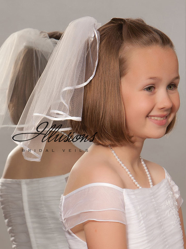 Illusions Bridal Flower Girl and First Communion Veils M-151-1R