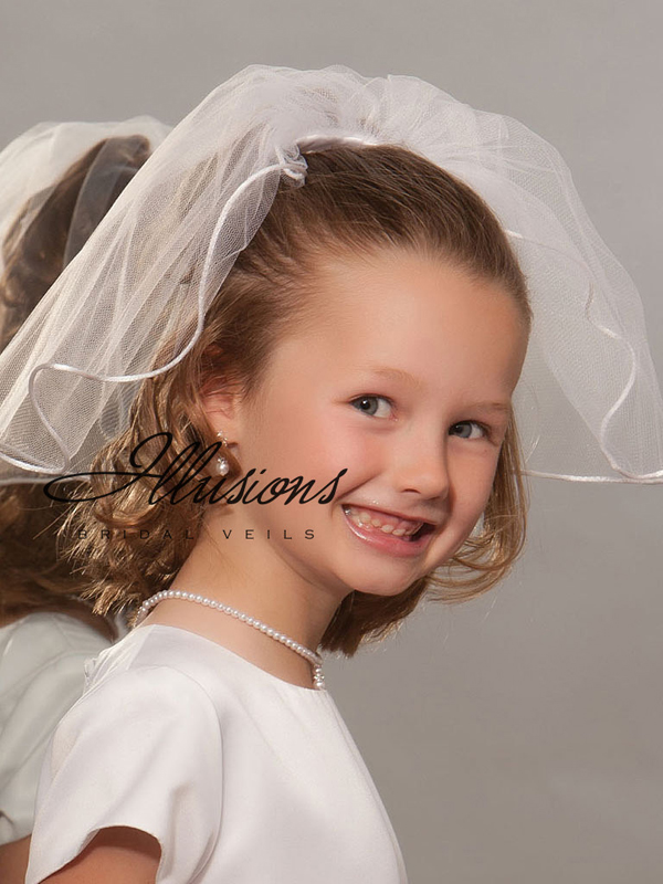 Illusions Bridal Flower Girl and First Communion Veils M-151-RT