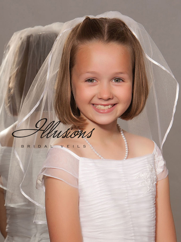 Illusions Bridal Flower Girl and First Communion Veils M-201-1R