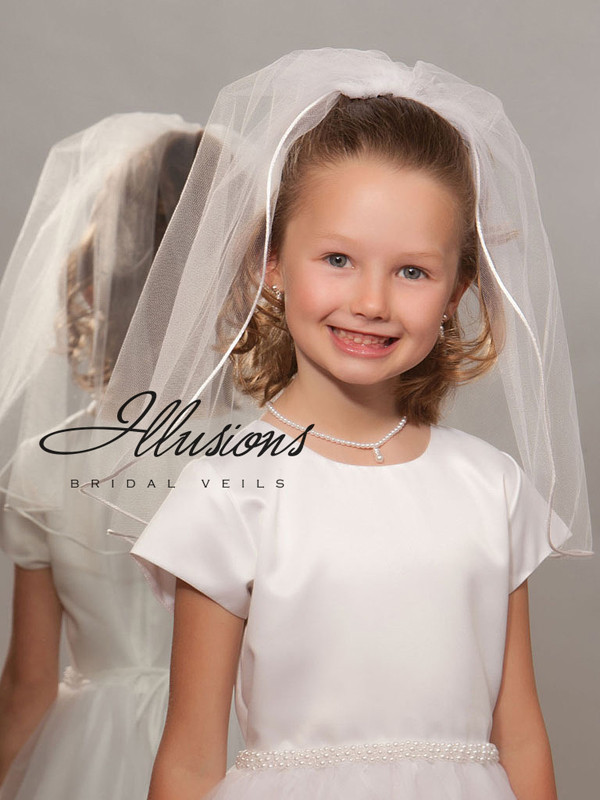 Illusions Bridal Flower Girl and First Communion Veils M-201-RT