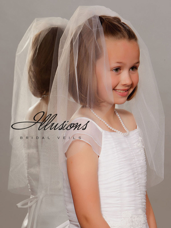 Illusions Bridal Flower Girl and First Communion Veils M-251-CT