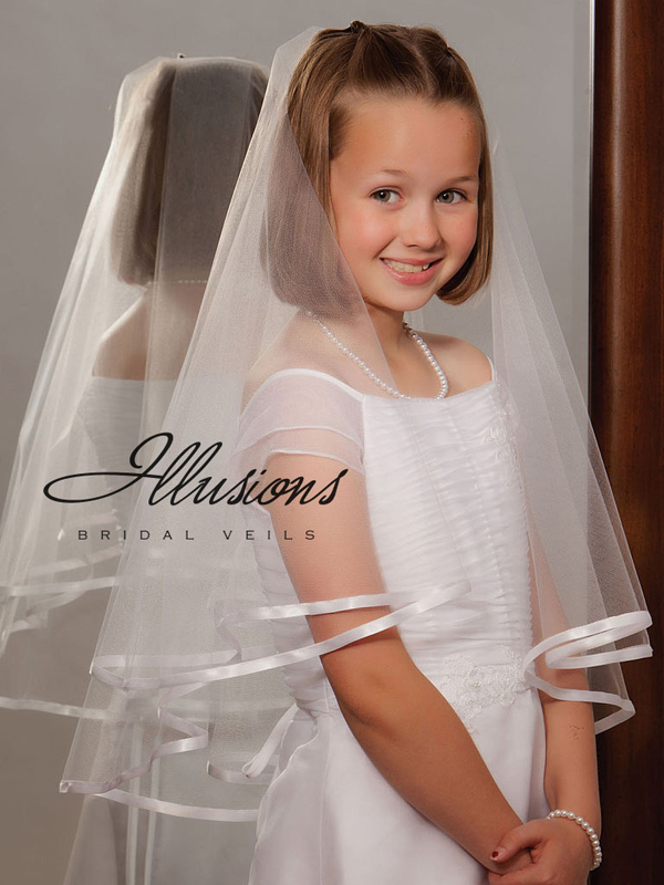 Illusions Bridal Flower Girl and First Communion Veils MFC-252-3R