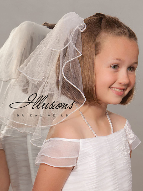 Illusions Bridal Flower Girl and First Communion Veils MS-152-P