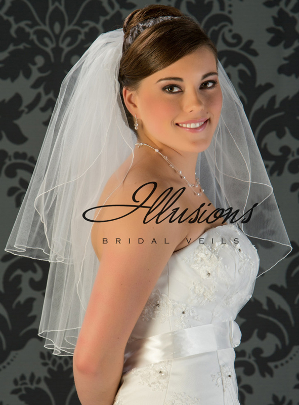 Illusions Bridal Corded Edge Veil S1-252-C