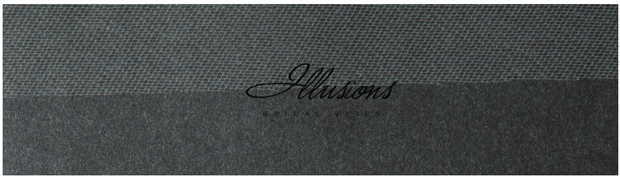Illusions Bridal Cut Edge Veil S1-302-CT: Pearl Accent