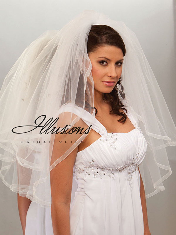 Illusions Bridal Ribbon Edge Veil S1-302-SR