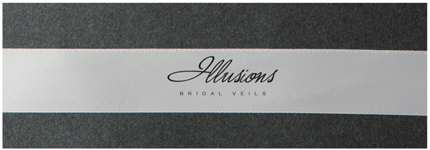 Illusions Bridal Ribbon Edge Veil S1-452-7R: Pearl Accent