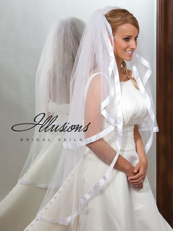 Illusions Bridal Ribbon Edge Veil S1-452-7R