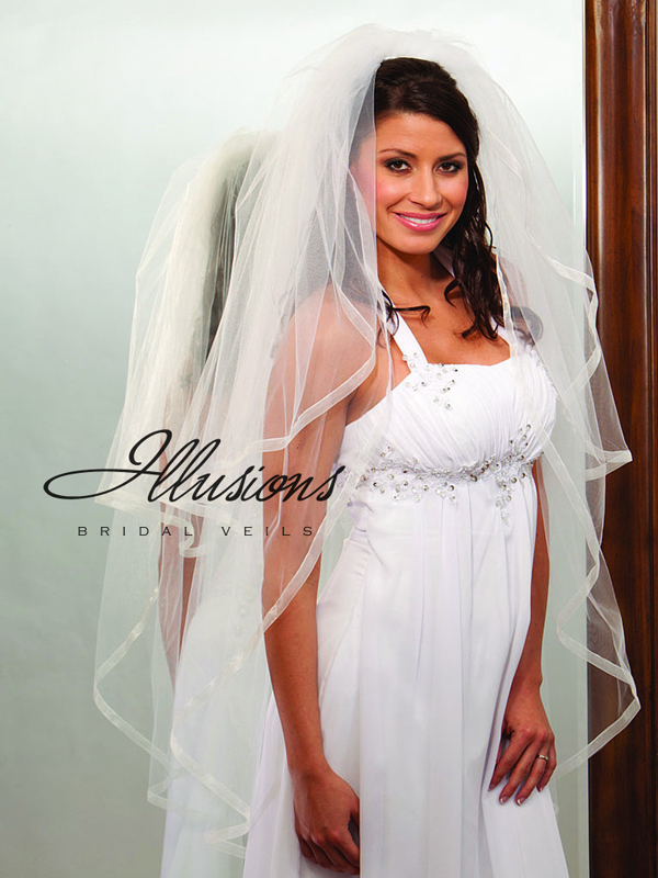 Illusions Bridal Ribbon Edge Veil S1-452-SR