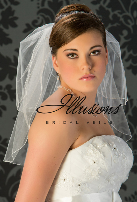 Illusions Bridal Corded Edge Veil S5-202-C