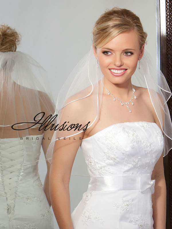 Illusions Bridal Rattail Edge Veil S5-202-RT