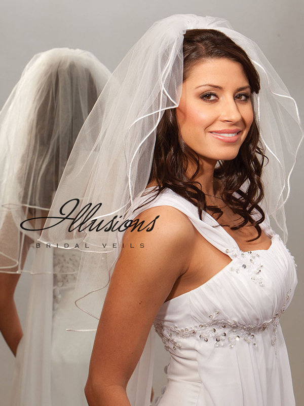Illusions Bridal Rattail Edge Veil S7-252-RT