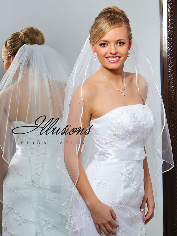 Illusions Bridal Ribbon Edge Veil S7-362-1R