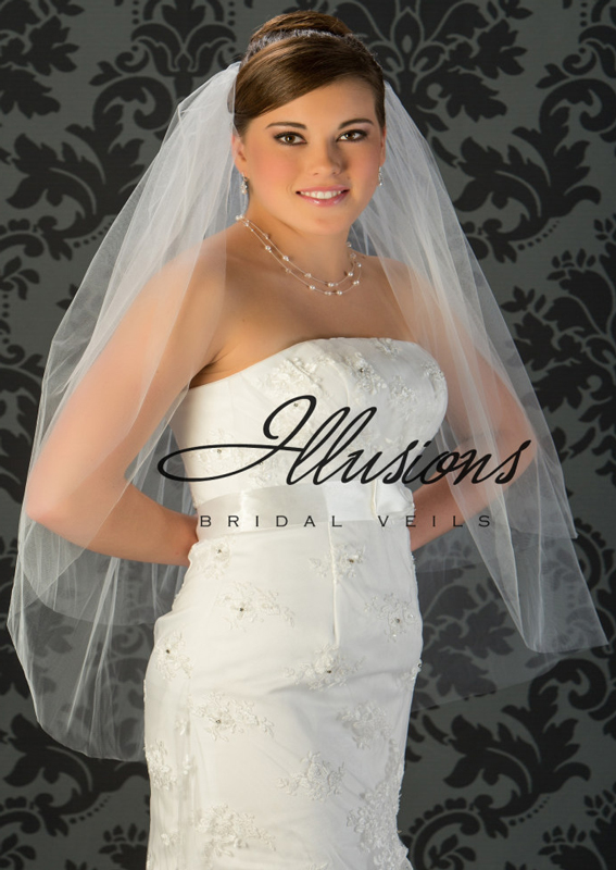Illusions Bridal Cut Edge Veil S7-362-CT