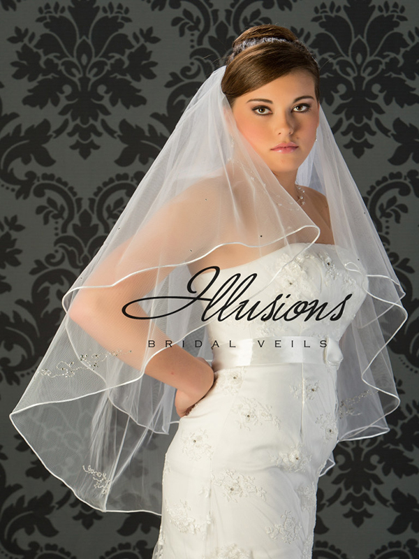 Illusions Bridal Beaded and Specialty Veils V-7019