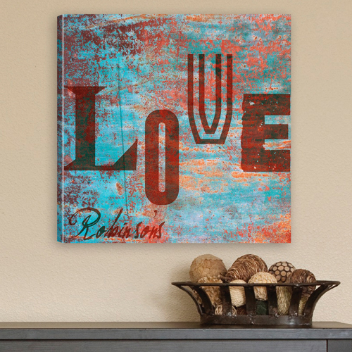 JDS Personalized Canvas Print: Graffiti Style Love