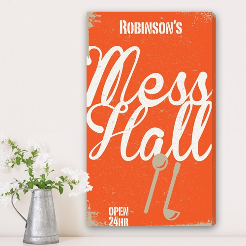 JDS Personalized Canvas Print: Family Mess Hall