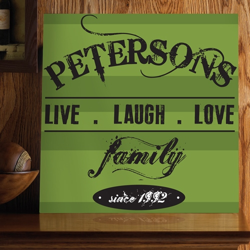 JDS Canvas Print: Live.Laugh.Love