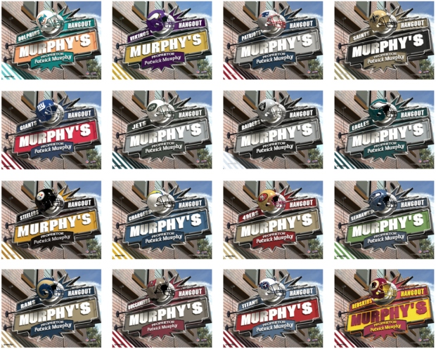 JDS Canvas Prints: NFL Team Pub