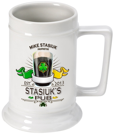 JDS Personalized German Beer Stein: 16 oz.