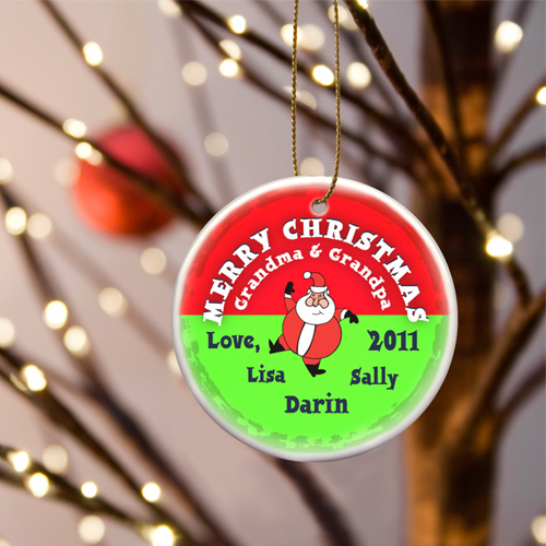JDS Personalized Merry Christmas Ornaments