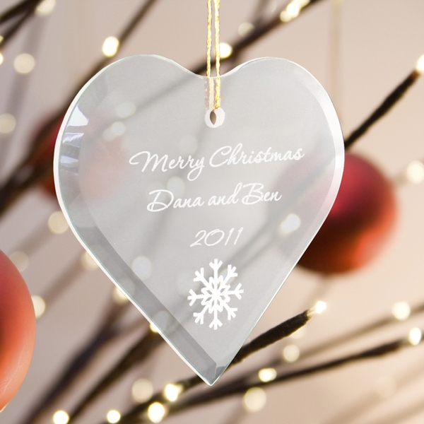 JDS Personalized Christmas Ornament: Heart