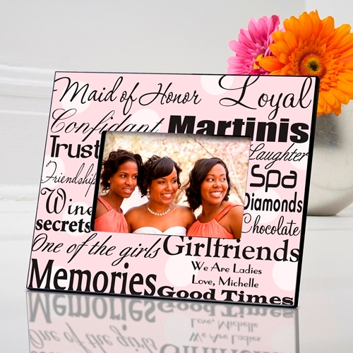 JDS Personalized Maid of Honor Frame