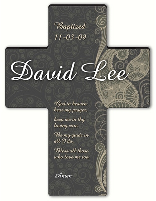 JDS Personalized Paisley Praise Cross