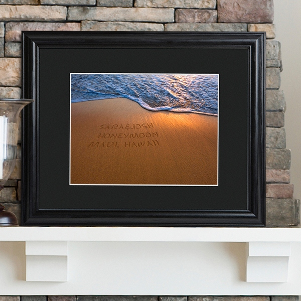JDS Personalized Sparkling Sands Print with Wood Frame