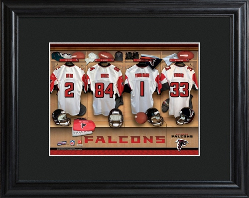 JDS Personalized Print with Matted Frame: NFL Locker Room