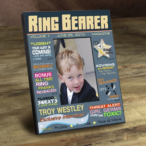 JDS Personalized Magazine Frame: Ring Bearer