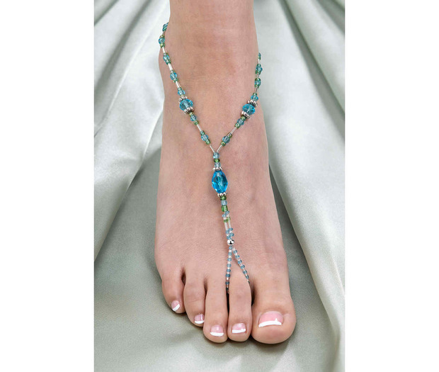 Lillian Rose Set of 2 Shell Foot Jewelry