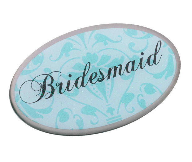 Lillian Rose Bridesmaid Pin - Oval Aqua