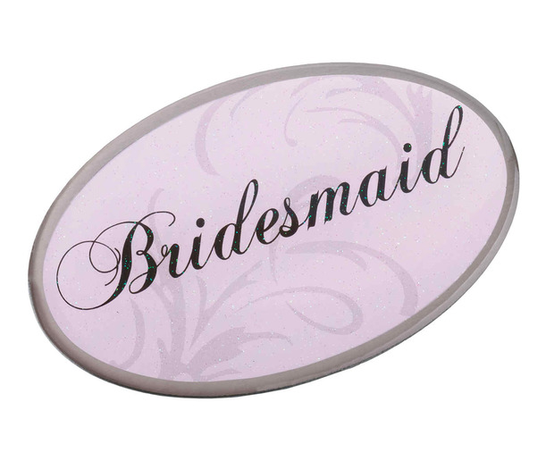 Lillian Rose Pink Oval Bridesmaid Pin