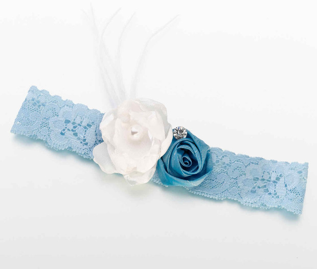 Lillian Rose Vintage Garter - Blue