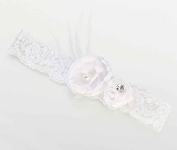 Lillian Rose Vintage Garter - White