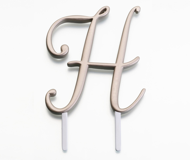 Lillian Rose Gold Monogram - H
