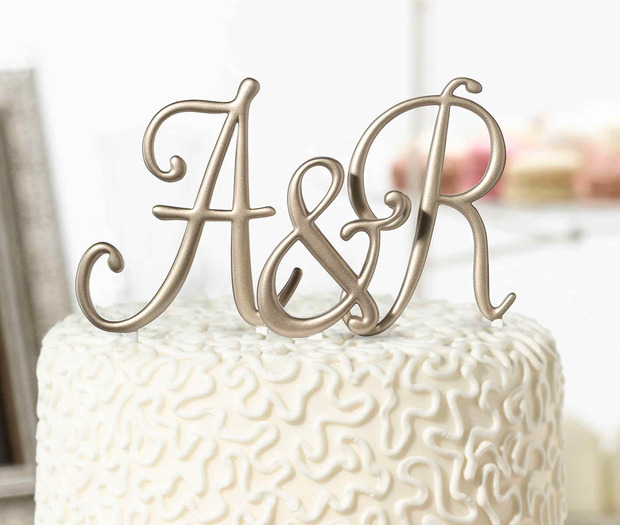 Lillian Rose Gold Monogram - A